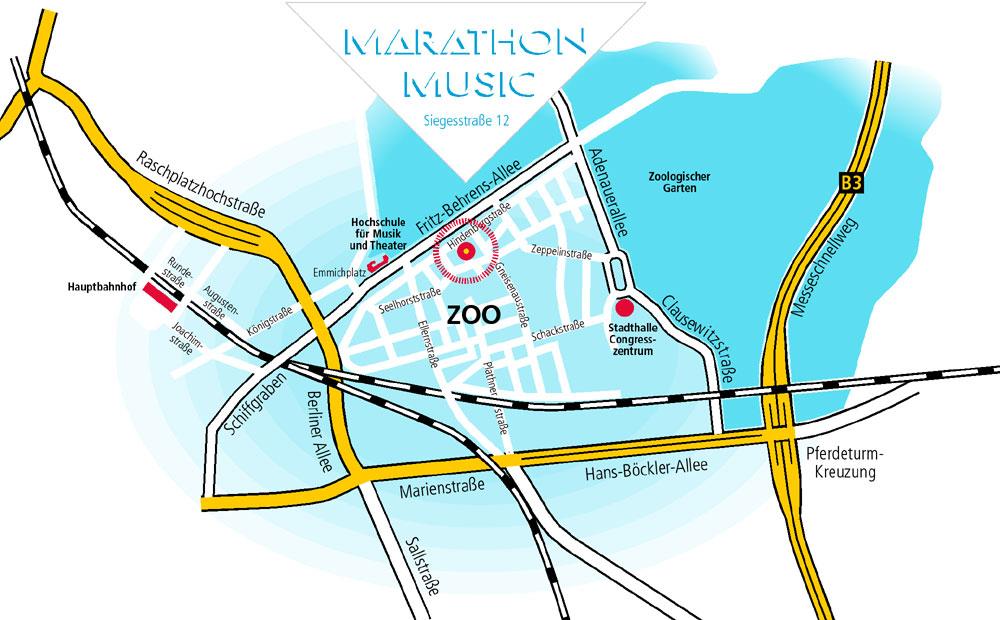 Lageplan Marathon Music